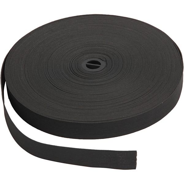 Ruban élastique - Noir - 20 mm x 25 m - Photo n°1