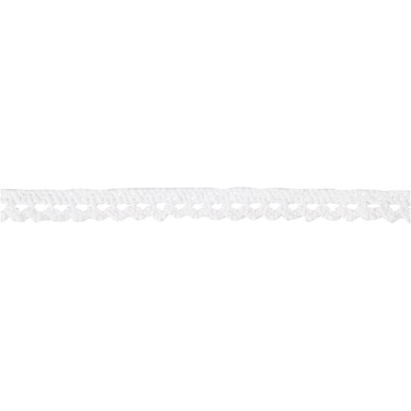 Ruban dentelle blanche - 1 cm x 10 m - Photo n°3