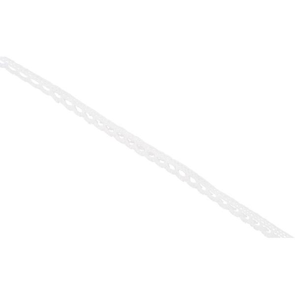 Ruban dentelle blanche - 1 cm x 10 m - Photo n°1