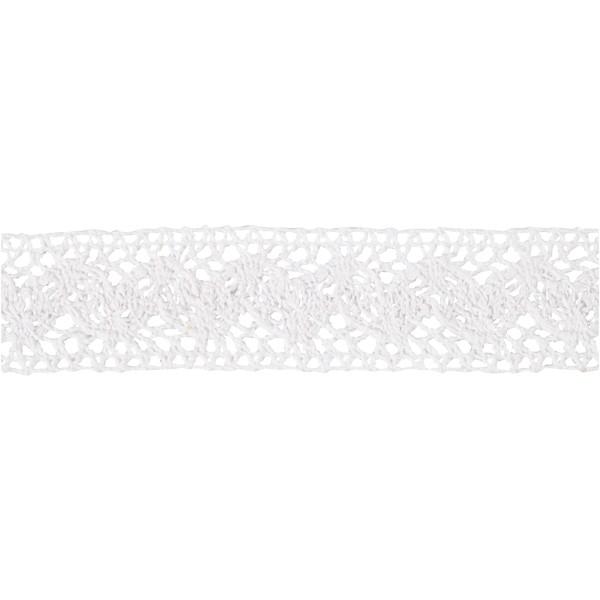 Ruban dentelle blanche - 3 cm x 10 m - Photo n°3