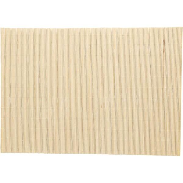 Natte en bambou pour feutrage - 45 x 30 cm - 4 pcs - Photo n°1