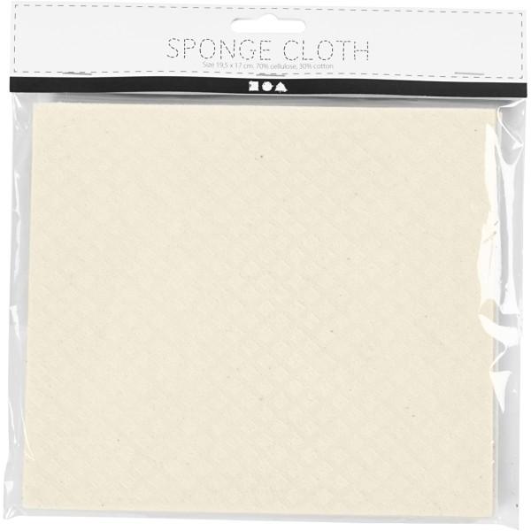 Chiffon éponge 17 x 19,5 cm - Blanc cassé - 3 pcs - Photo n°2