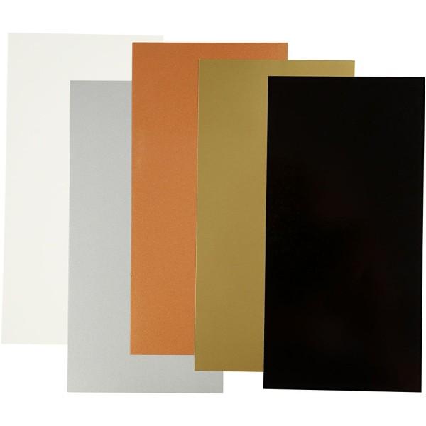 Color Dekor, Feuille 10X20 Cm, Couleurs Métalliques, 5Flles. Ass. - Photo n°1