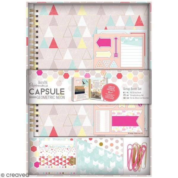 Kit scrapbooking Geometric Neon - Carnet et embellissements - Photo n°1