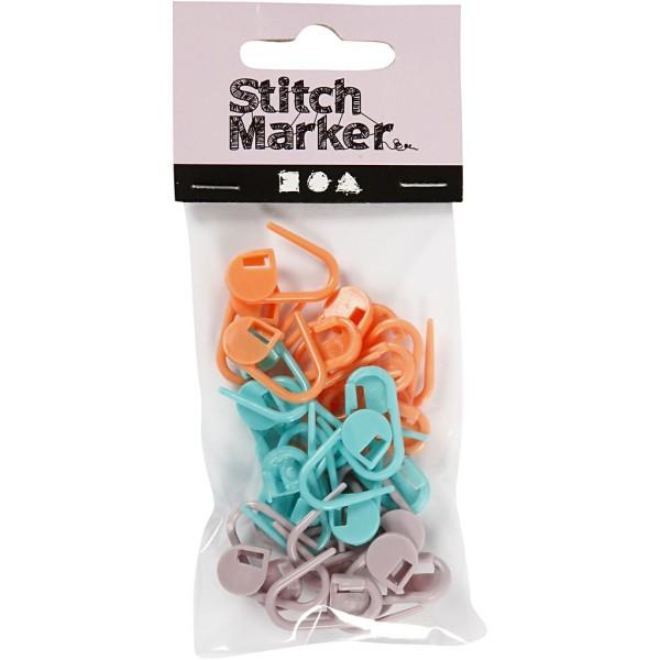 Marqueurs de mailles en plastique - 22 mm - 30 pcs - Photo n°2
