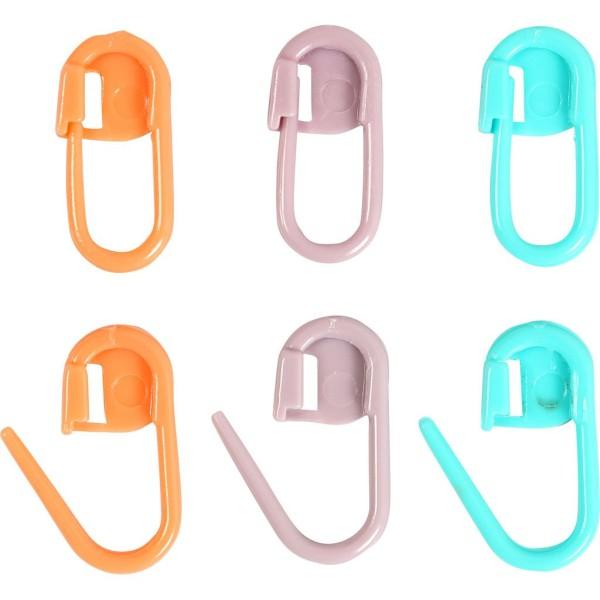 Marqueurs de mailles en plastique - 22 mm - 30 pcs - Photo n°1