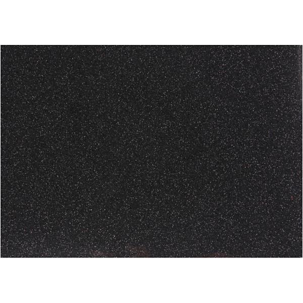 Papier transfert textile pailleté - 14,8 x 21 cm - Noir - 1 pce - Photo n°1