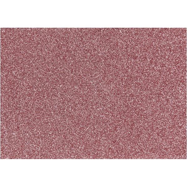 Papier transfert textile pailleté - 14,8 x 21 cm - Rosé - 1 pce - Photo n°1