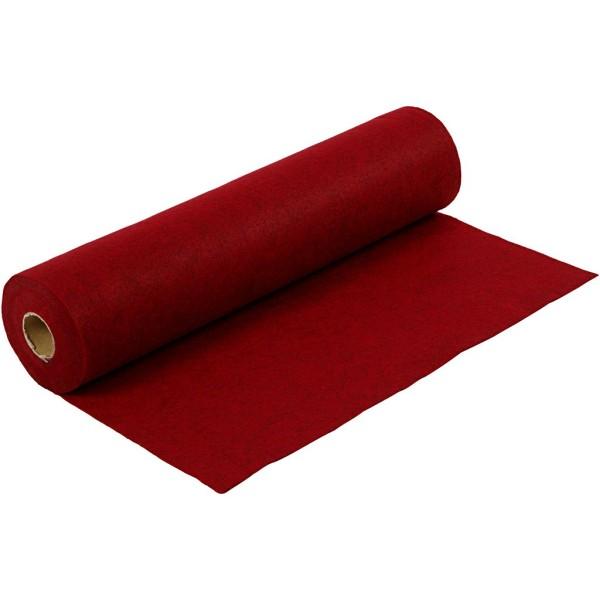 Rouleau de feutrine synthétique 1,5 mm - Rouge - 45 cm x 5 m - Photo n°1