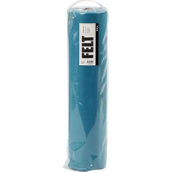 Rouleau de feutrine synthétique Turquoise - 1,5 mm - 45 cm x 5 m - Photo n°2