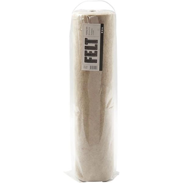 Rouleau de feutrine synthétique 1,5 mm - Blanc cassé finition marbrée - 45 cm x 5 m - Photo n°3