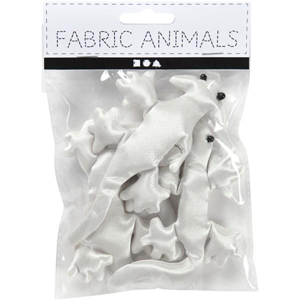 Lézards en tissu à décorer - 10 à 14 cm - 3 pcs - Photo n°2