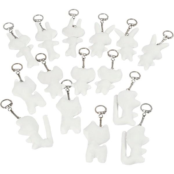 Porte-clés en tissu - Figurines - 6 à 10 cm - 15 pcs - Photo n°1