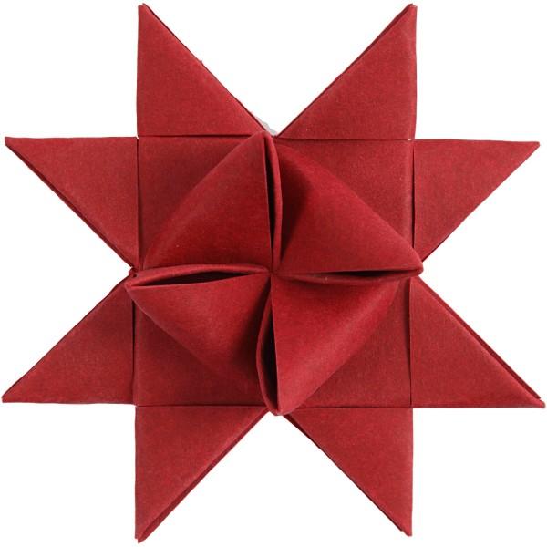 Bandes de papier pour étoiles - imitation cuir rouge - Largeur 15 et 25 mm - 24 pcs - Photo n°3