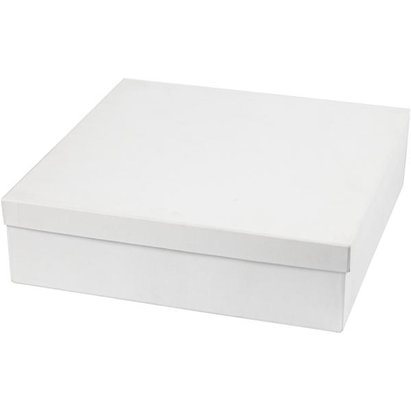 Assortiment de boîtes en carton blanc - Rond, carré, hexagonale - 4,5 à 6 cm - 36 pcs - Photo n°2