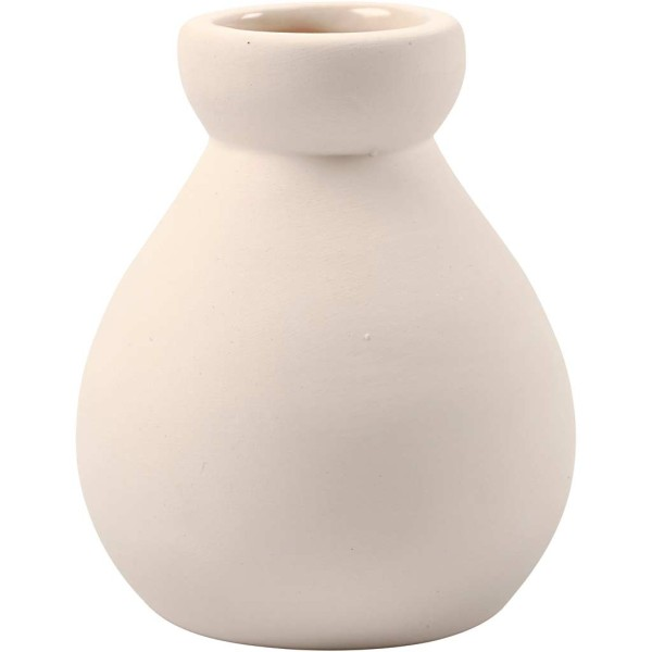 Vase, H: 7 Cm, Blanc, 6Pièces - Photo n°1