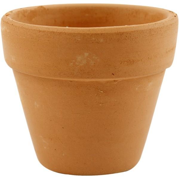 Pots de fleurs en terre cuite - Naturel - 7 x 6,5 cm - 24 pcs - Photo n°1