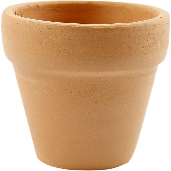 Pots de fleurs en terre cuite - Naturel - 5 x 4,2 cm - 48 pcs - Photo n°1