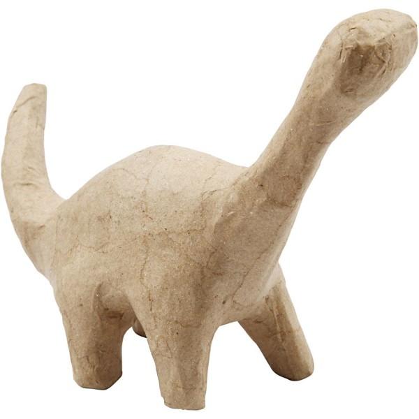 Dinosaure en papier mâché à décorer - Diplodocus - 12,5 x 15,5 cm - Photo n°1