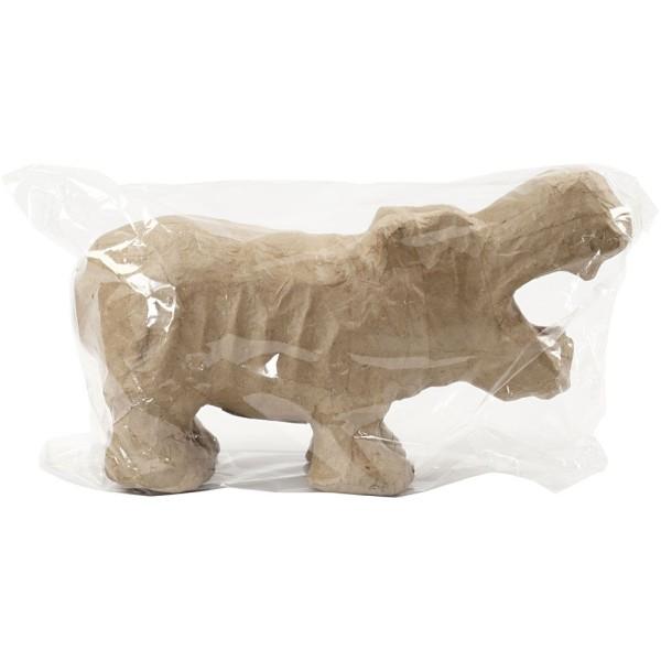 Hippopotame en papier mâché à décorer - 18 x 28 cm - Photo n°2