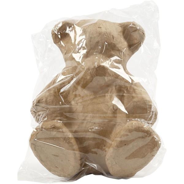 Ourson en papier mâché à décorer - 18 x 15 cm - Photo n°2