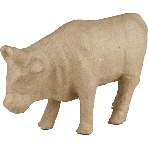 Vache en papier mâché à décorer - 15 x 23 cm - Photo n°1
