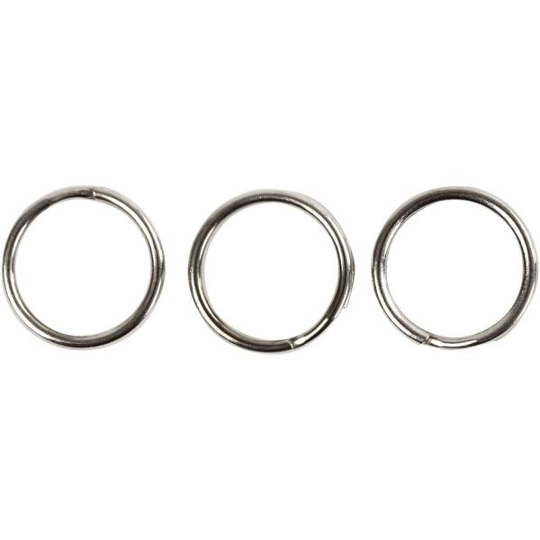 Anneaux porte-clés ronds 12 mm - Argenté - 100 pcs - Photo n°2