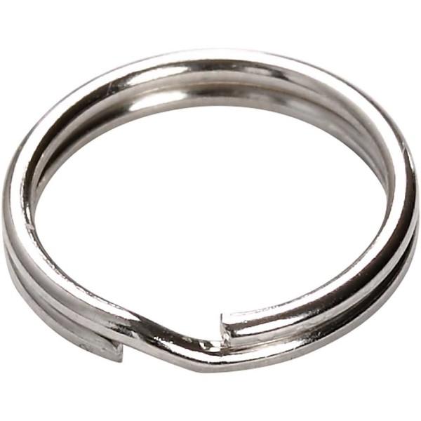 Anneaux porte-clés ronds 15 mm - Argenté - 100 pcs - Photo n°2