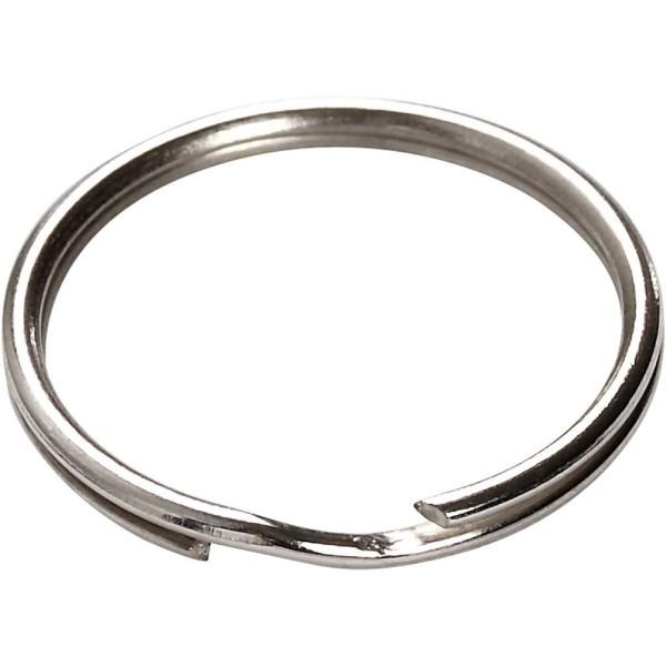 Anneaux porte-clés ronds 20 mm - Argenté - 100 pcs - Photo n°2