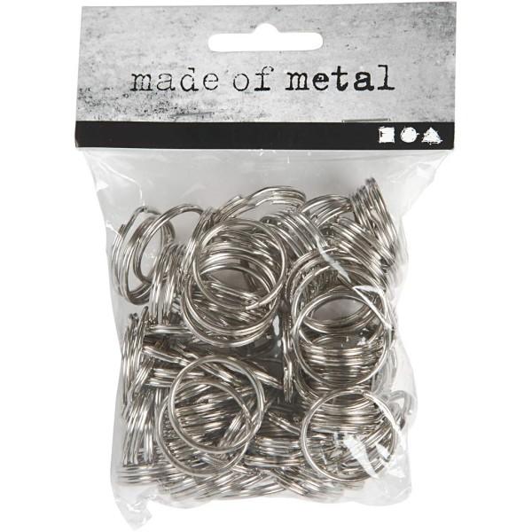 Anneaux porte-clés en métal - 25 mm - 100 pcs - Photo n°2