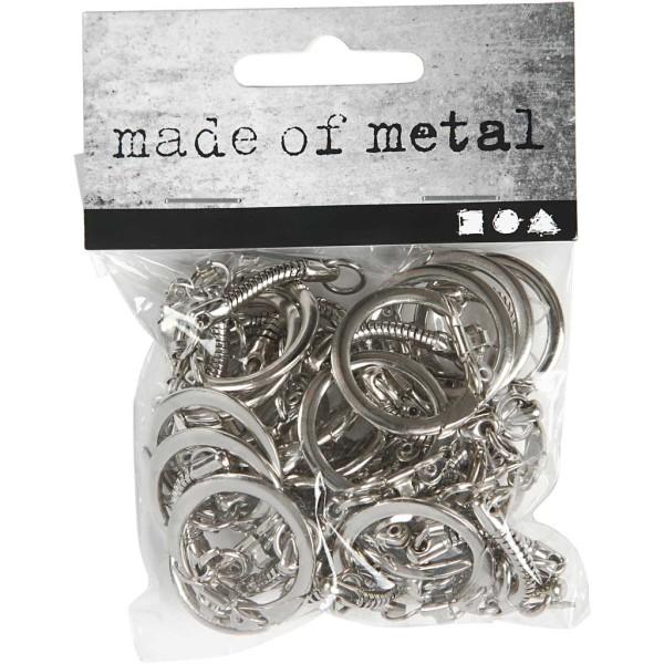 Lot d'accroches porte-clés en métal - 2,3 x 6 cm - 25 pcs - Photo n°2