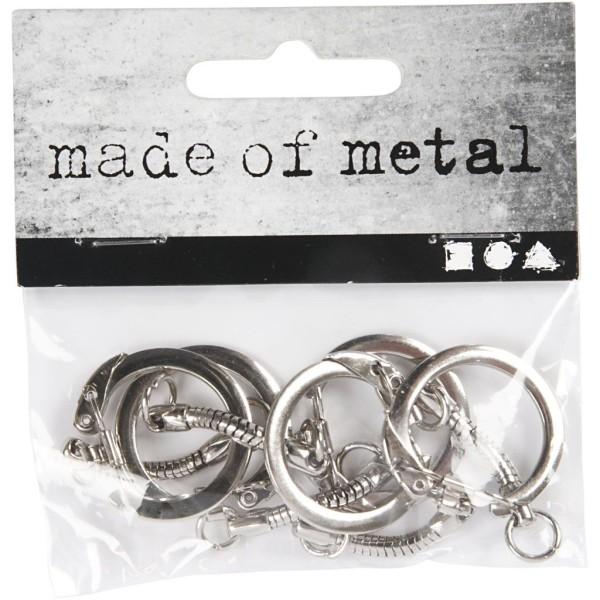 Lot d'accroche porte-clés en métal argenté - 2,3 x 6 cm - 5 pcs - Photo n°2