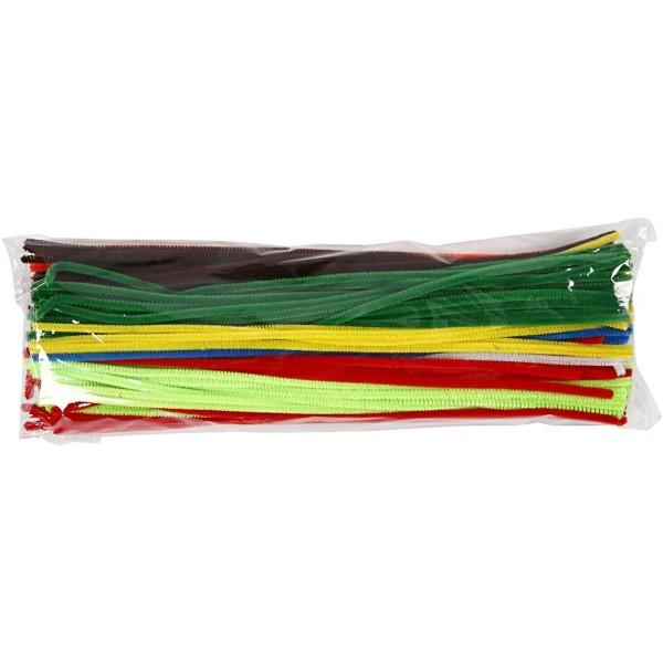 Assortiment de fils chenille 6 mm x 45 cm - Couleurs assorties - 200 pcs - Photo n°2