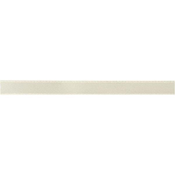 Ruban satin 10 mm - Blanc cassé - 100 m - Photo n°2