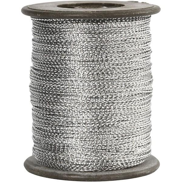 Cordelette lurex 0,5 mm - Argentée - 100 m - Photo n°1