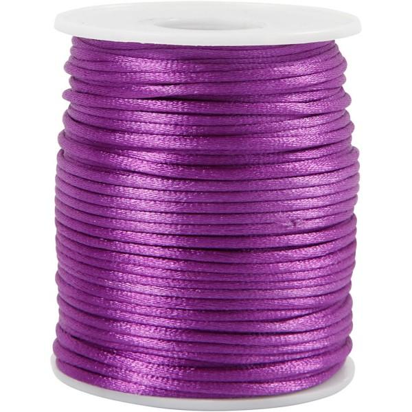 Cordon satin 2 mm - Violet - Rouleau de 50 m - Photo n°1