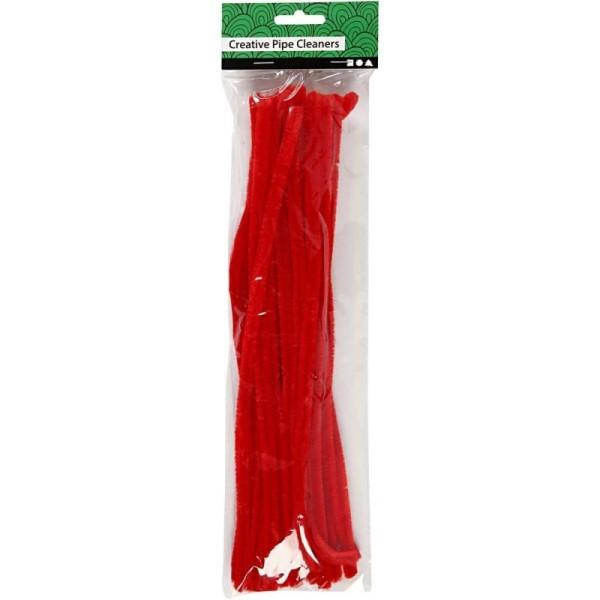 Lot Fil chenille Rouge  - 9 mm x 30 cm   25 pcs - Photo n°1