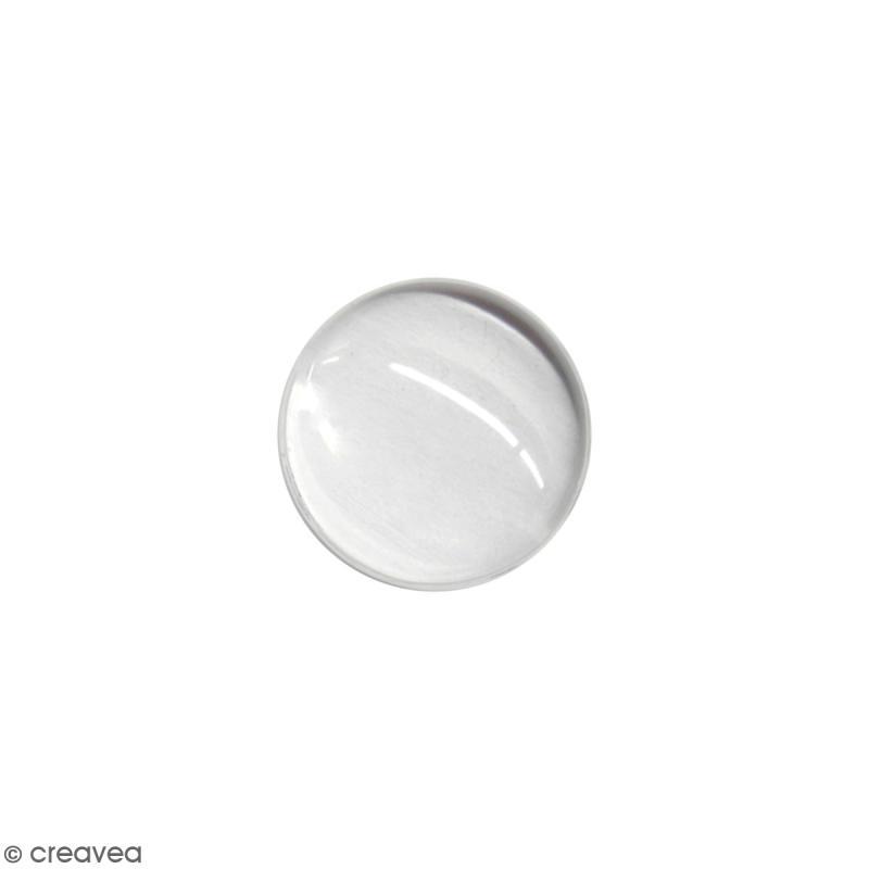 Cabochon en verre rond transparent 18 mm - Photo n°1