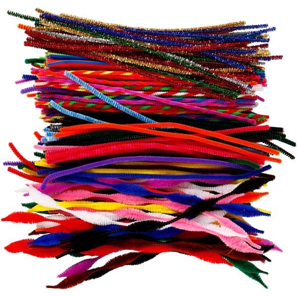 Assortiment de fil chenille - 4 à 6 mm x 30 cm - 250 pcs - Photo n°1
