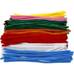 Assortiment Fil chenille - Multicolore - 9 mm x 30 cm - 200 pcs