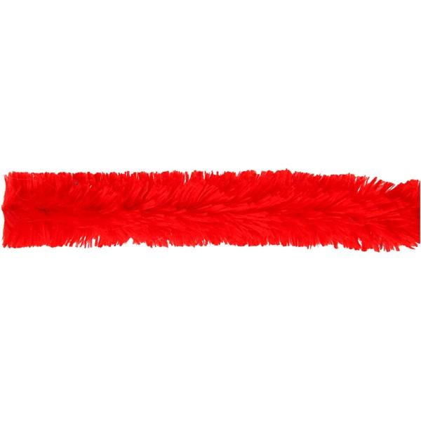 Fil chenille 40 cm - Rouge - 4 pcs - Photo n°3