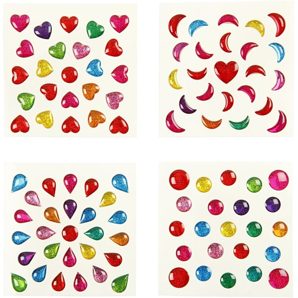 Assortiment de gommetes 3D multicolores -7 à 11 mm - 2400 pcs environ - Photo n°2
