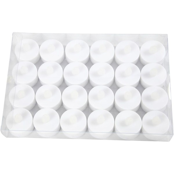 Bougies chauffe plat LED - 38 x 35 mm - 24 pcs - Photo n°2