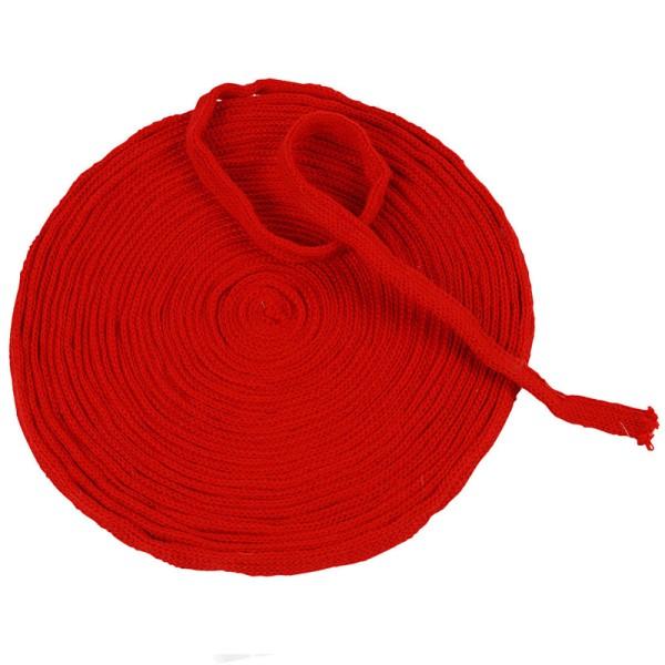 Tricot tubulaire acrylique - Rouge cerise - 10 mm x 10 m - Photo n°1