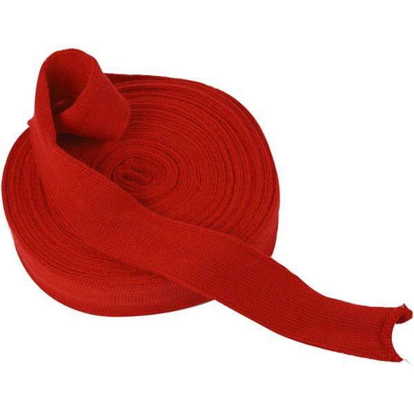Tricot tubulaire acrylique - Rouge cerise - 40 mm x 10 m - Photo n°1