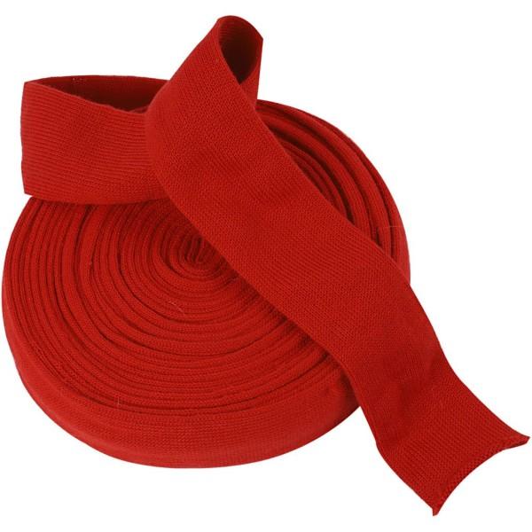 Tricot tubulaire acrylique - Rouge cerise - 60 mm x 10 m - Photo n°1