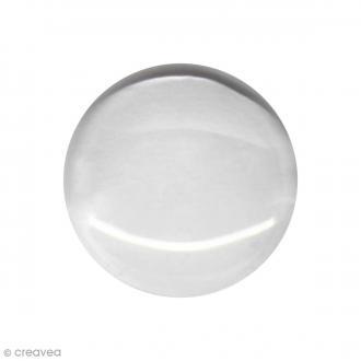 Cabochon transparent rond 14 mm - 1 pce