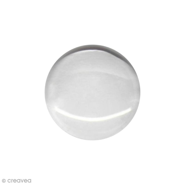 Cabochon transparent rond 8 mm - 1 pce - Photo n°1