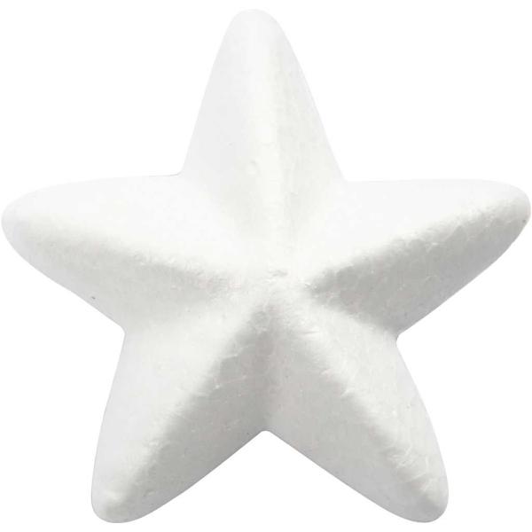 Etoiles en polystyrène - Blanc - 6 cm - 50 pcs - Photo n°1