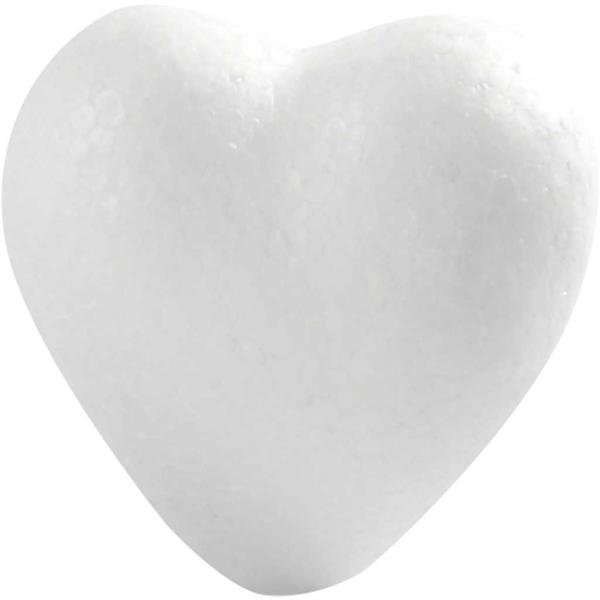 Lot de Coeurs en polystyrène à décorer   6 cm - 50 pcs - Photo n°1